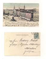 AK Linz A. D. Franz Josefs-Platz - 23.1.1935 ? - Echt Gelaufen - Linz