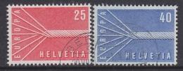 Europa Cept 1957 Switzerland 2v Used (31999D) - Europa-CEPT