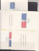 Europa Cept 1957 Switzerland 2v  3 Faltblatt Ca Deutsch, Francais, Italiano (F5648) - Europa-CEPT