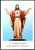 Santino - S. Cuore Di Gesu' - Con Preghiera - Images Religieuses