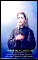 Santino - Teresa Manganiello - Con Preghiera Per La Glorificazione - Images Religieuses