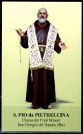 Santino - S. Pio Da Pietrelcina - Con Preghiera - - Santini