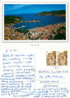 Vis, Croatia Postcard Posted 2011 Stamp - Croatia