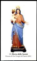 Santino - S. Maria Della Sanita' - Con Preghiera - Venerata In Ginestra Di San Giorgio Del Sannio (BN) - Imágenes Religiosas