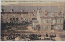 Origny-en-Thiérache (Aisne) - Etablissements De Vannerie, Tirot Et Larmuzeaux - Cpa Toilée Colorisée - Frankrijk
