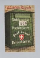 Motiv Neujahr AK 1906-01-02 Bienne Briefkasten #CTK 995 - Nouvel An