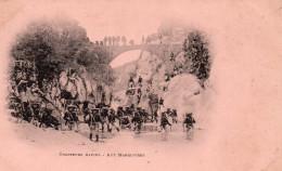 6548. CPA MILITAIRES. CHASSEURS ALPINS. AUX MANOEUVRES. - Regiments