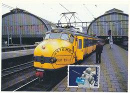 D25345 CARTE MAXIMUM CARD FD 1989 NETHERLANDS - DETAIL - ROOF CENTRAL STATION AMSTERDAM CP ORIGINAL - Architecture