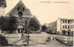 38 SAINT-CHEF  La Place Et L'Eglise - Saint-Chef