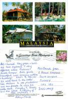 Kampung Houses, Malaysia Postcard Posted 2012 Stamp - Malaysia