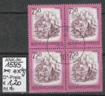 "3.6.1977 - FM/DM ""Schönes Österreich""  S 7,50 Lila - 4 X O Gestempelt -  Siehe Scan   (1595o X4) - 1971-80 Usados"
