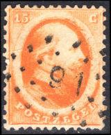 Netherlands 1864 15c Orange Fine Used. - Period 1852-1890 (Willem III)