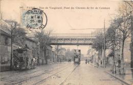 75 PARIS 15- RUE DE VAUGIRARD, PONT DU CHEMIN DE FER DE CEINTURE - Arrondissement: 15