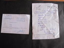 CYCLOMOTEUR PEUGEOT V 50 DC CLASSE B - Certif De Confrmité + Facture De 1984 - Belgique