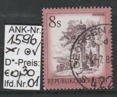 """25.2.1976  - FM/DM """"Schönes Österreich"""" S 8,00 Rotbraun - O Gestempelt  - Siehe Scan (1596o 01-19) - 1971-80 Usados"""