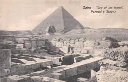 ¤¤  -  EGYPTE    -   LE CAIRE   -  CAIRO  -  View Of The Tempel  -  Pyramid & Sphynx   -  ¤¤ - Cairo