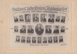 BUDAPEST-HUNGARY-ORIGINAL-PHOTO-SZEKESFOVAROSI HOZLEKEDESI-FALALKCZUNK-1943-LOOK AT 2 SCANS-PHOTO-BRUNHUBER-TOP ! ! ! - Hongrie