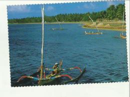 133095  THE PALM SWAYING SANUR BEACH - Cartoline