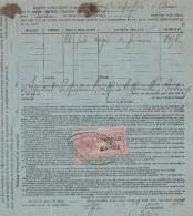 Connaissement VERRY CARFANTAN à Binic Navire BREIZ De Légué Côtes D'Armor Pour Bordeaux 24/5/1913 - Rognes De Poissons - Documenti Storici