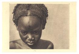Cpa Centrafrique OUBANGUI CHARI Petite Fille Sara Kaba De La Tribu Des Femmes à Plateaux - Centrafricaine (République)