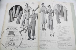 Old Magazine/ Publication London Styles - Women's Fashion Winter 1937 - Wool Vintage Coats & Costumes - Laine