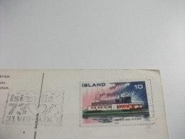 STORIA POSTALE FRANCOBOLLO COMMEMORATIVO ISLAND ISLANDA ERUZIONE 1970 HEKLA - Islanda