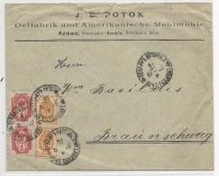 RUSSIE / POLOGNE - 1903 - ENVELOPPE COMMERCIALE De MALOBONDZ (BENDZIN) Pour BRAUNSCHWEIG - 1857-1916 Empire