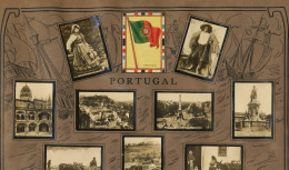 Set Of 13 Pictures Portugal Advert Tabacalera Cubana Cuba Flag Oporto Milk Vendors On Donkey Lisboa Etc - Non Classés