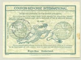 Nederland - 1917 - Coupon-Reponse International Model Rome 14 Cent Type IV / Geuzendam 4 - Postal Stationery