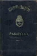 ARGENTINA - 1965 PASSPORT - PASSEPORT - SPAIN -  VISAS And REVENUES Stamps - Documentos Históricos