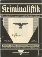1938 SS POLICE CHIEF REINHARD HEYDRICH SIGNED MAGAZINE COVER - Stamps