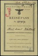 1939 REISEPASS PASSPORT FOR JEWISH CITIZEN - Stamps