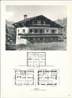 Architecture Ancien Plan De Chalet à  MEGEVE  ( Architecte H. J. LE MEME  à Megève     ) - Architecture