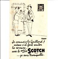 BUVARD ADEHSIF SCOTCH ILLUSTRE PAR ALEDEBERT 13.5X21 BON ETAT VOIR SCAN - Buvards, Protège-cahiers Illustrés