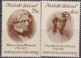NORFOLK ISLAND SG503/4 1990 HISTORY OF NORFOLK MNH - Beroemde Personen