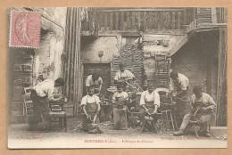 CARTE RARE - MONTMERLE (Ain) - Fabrique De Chaises -- Métier - CHAISES - MEUBLE- TRAVAIL DU BOIS - ARTISANT - OUVRIER- - Altri Comuni