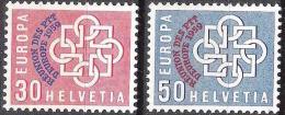 Schweiz Suisse 1959: Conférence PTT-Konferenz  Zu 349-350 Mi 681-682 Yv 632-633 ** MNH (Zu CHF 40.00) - Poste