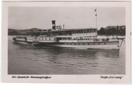 """Germany - Koln - Dusseldorfer - Rheindampfschiffahrt - Dampfer """"Ernst Ludwig"""" - Paquebots"""