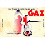 BUVARD EAU CHAUDE INSTANTANEE AVEC LE GAZ ESTAMPILLE ATG D'aprés BOB 21X13.5 BON ETAT VOIR SCAN - Buvards, Protège-cahiers Illustrés