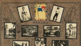 Set Of 13 Pictures Panama Advert Tabacalera Cubana Colon Parque Lesseps Fabricando Sombreros Lago Gatun - Panama