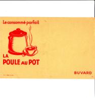 BUVARD LE CONSOMME PARFAIT LA POULE AU POT  21X13.5 BON ETAT VOIR SCAN - Soups & Sauces