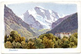 CPA SUISSE - INTERLAKEN - Lithographie W.Benteli 447 - BE Berne