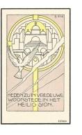 P 24.  EERW. BROEDER HUBERTUS  CEULS -  Minderbroeder  - °LIER 1867  /  +TIELT 1940 - Imágenes Religiosas