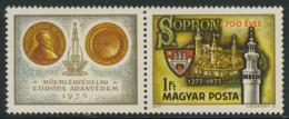 Hungary Ungarn 1977 Mi 3206 YT 2569 ** Sopron (Ödenburg) Arms, Fidelty Tower / Stadtwappen, Turm Der Treue - Postzegels