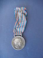 Medaglia - Campagna Di Libia (Silver/Argento), Nastrino Originale - ME38 - Gettoni E Medaglie