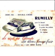 BUVARD  RUMILLY LE REGAL DES GOURMETS PAR LE LAIT MONT BLANC  21X13.5 EN ETAT VOIR SCAN - Buvards, Protège-cahiers Illustrés