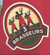 """Sous Bock """"3 BRASSEURS"""" (contour Blanc) - Sous-bocks"""