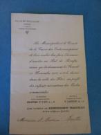 BOULOGNE  CAISSE DES ECOLES INVITATIONS  AU BAL DE BIENFAISANCE 1905  PERSONNELLE  Président Chartier, Maire LAGNEAU - Historische Dokumente