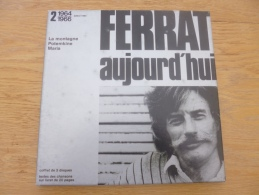 Jean Ferrat Aujourd'hui. Coffret. 3 33T. DE 1952 à 1964 à 1966. Temey - Vinyl Records