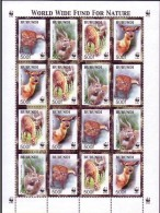 Burundi 2004 0CBn° 1115-1118 *** MNH Cote 55 Euro   WWF Feuillet Complète